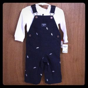 OshKosh 12m outfit - overalls and shirt